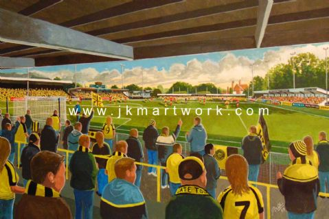 wetherby road on matchday  print